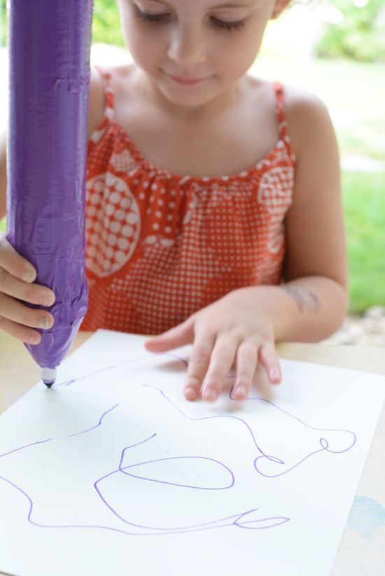Make your own oversized crayon inspired by Harold and the Purple Crayon