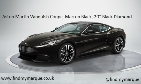 Aston Martin Vanquish Coupe Marron Black 20 Inch Black Diamond Alloys