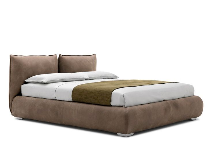Upholstered double bed ASTOR Spazionotte Collection by Silenia