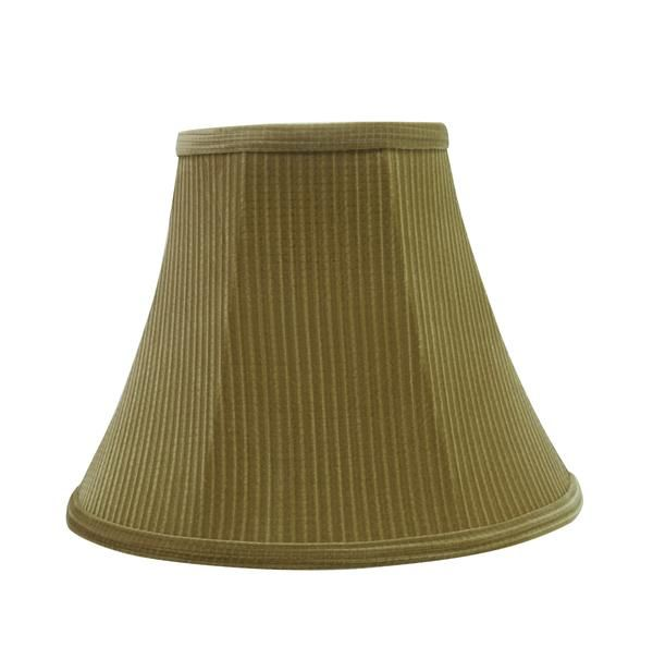 """# 30159 Transitional Bell Shape Spider Construction Lamp Shade in Brown-Green, 12"""" wide (6"""" x 12"""" x 9 1/2"""")"""