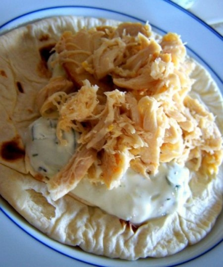 Crock Pot Lemon Chicken Pitas with Tzatziki 10 @WW_UK #propoints