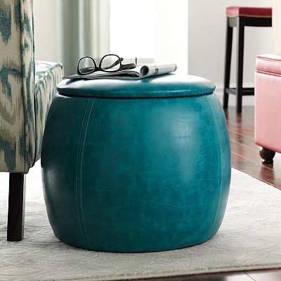 Turquoise Storage Ottoman For The Home Pinterest