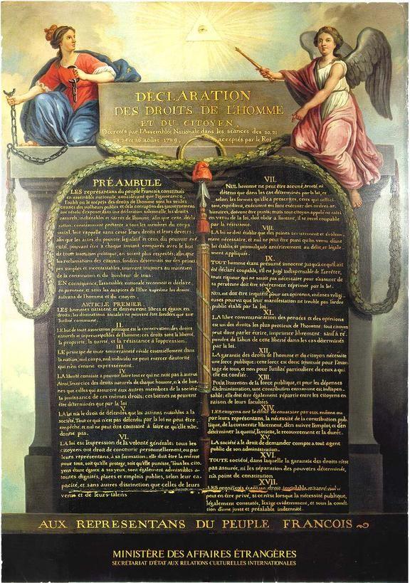 """El concepto """"derechos fundamentales surge en Francia hacia 1770, con motivo  del movimiento político y cultural que condujo a la declaración de los Derechos del Hombre y del Ciudadano de 1789."""