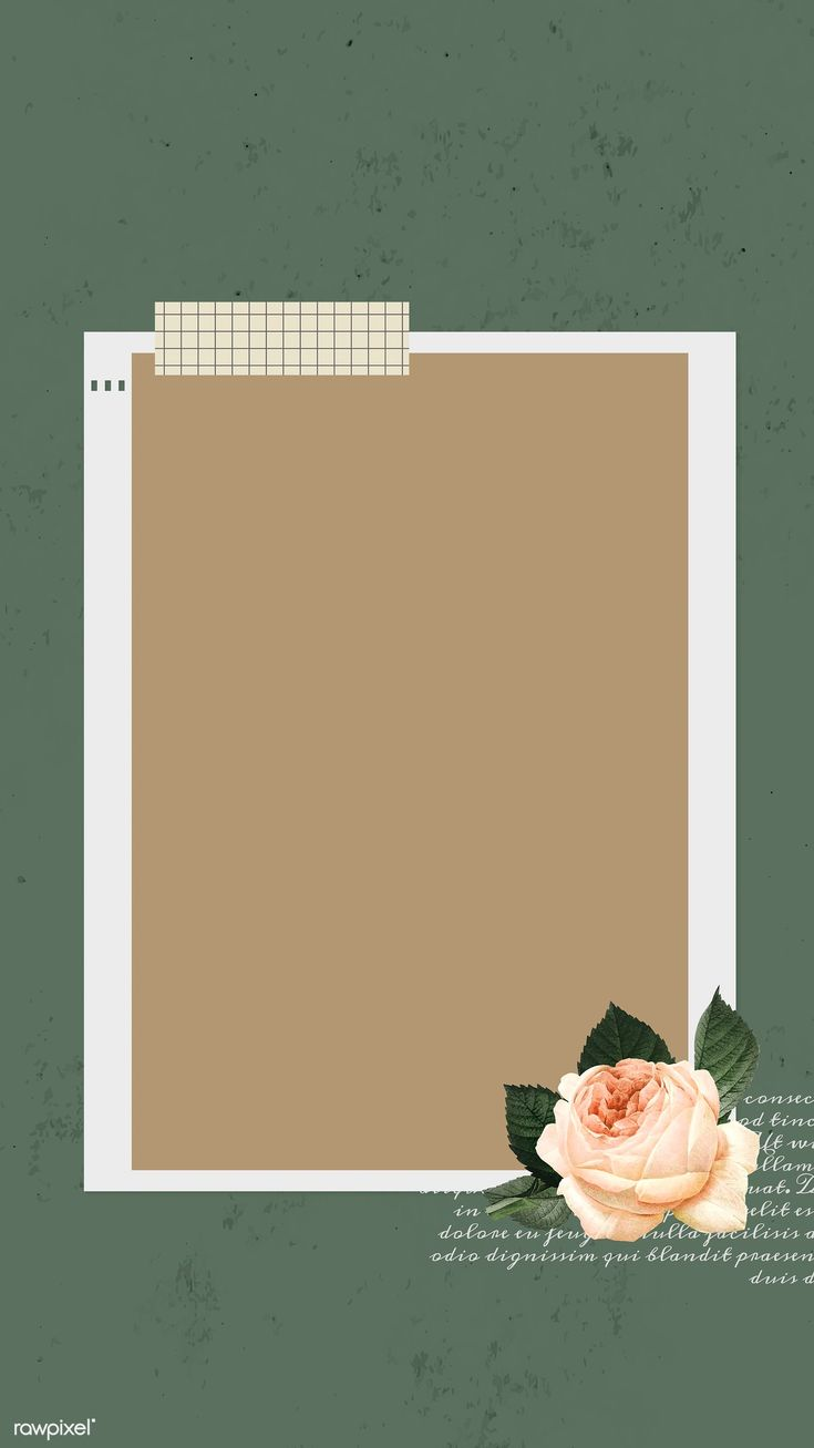 Download premium image of Blank collage photo frame template vector mobile