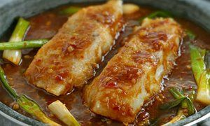 Ken Hom's fish in hot sauce for Chinese New Year