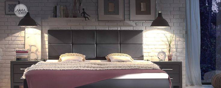 Stylowe wysokie łóżko z wezgłowiem #lozkatapicerowane #stylowelozka #lozkaboxspring #lozka #lozko #lozkadosypialni #lozkomalzenskie #lozkakontynentalne