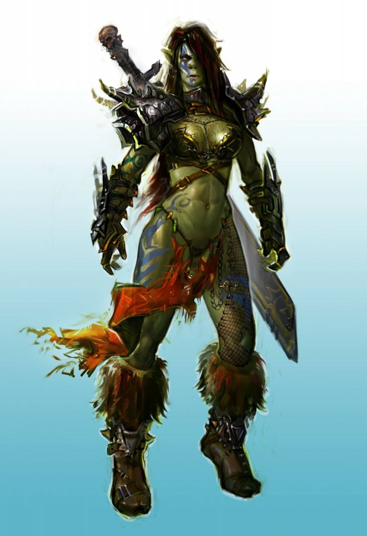 Have hit female orc warrior sorry