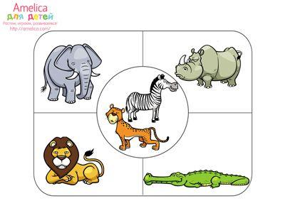 """Игра развивающая для детей пазлы - головоломка """"Обобщение"""" для детей 2,3,4 года бесплатно для печати скачать"""