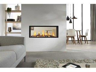 Haard • modern • haard met glas • www.drufire.be # livios.be