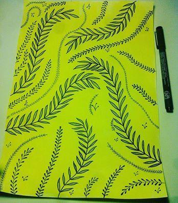 #yellow #pattern #drawing Elena Paraschiv Illustration (348×395)