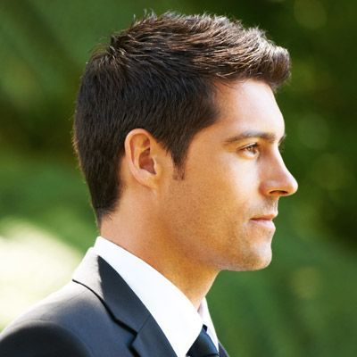 This wedding hair for men adds some modern spikes to a short haircut for a look…