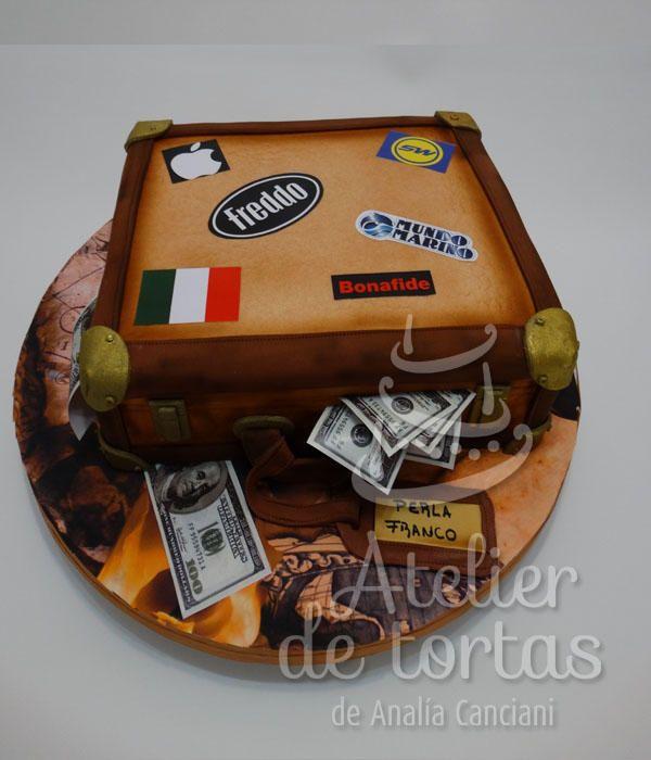 TORTA VALIJAS CASAMIENTO