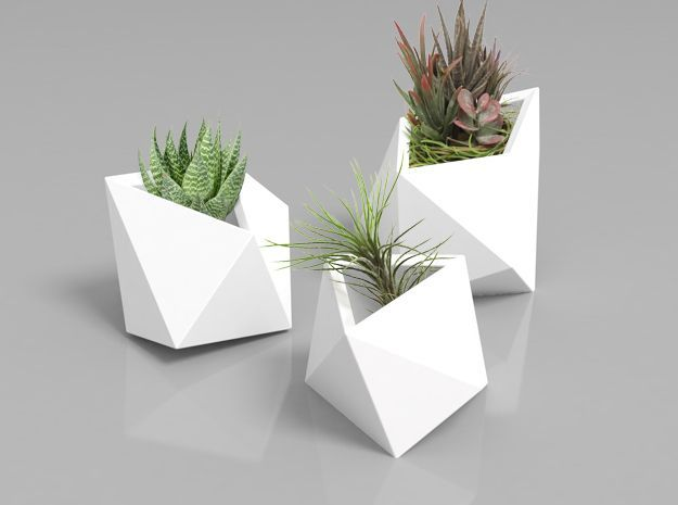 AphroChic: A Shapeways Giveaway of these adorable 3D printed planters.
