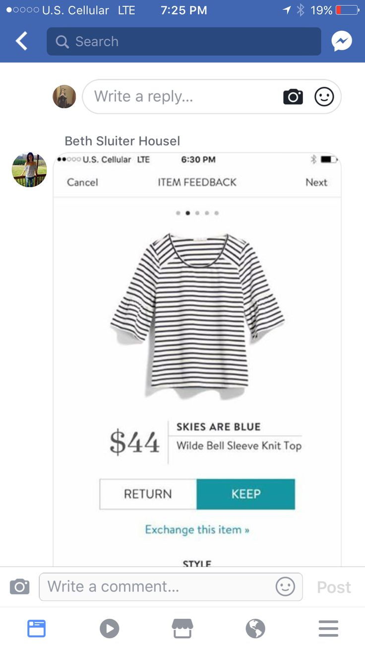 Hey Jamie look here's a navy blue and white top tht would look really cool with red shorts or kelly green pants. lol Love this top, wonder how it fits