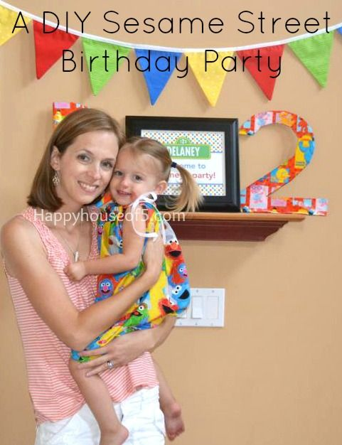 DIY Sesame Street Birthday Party from Happyhouseof5.com