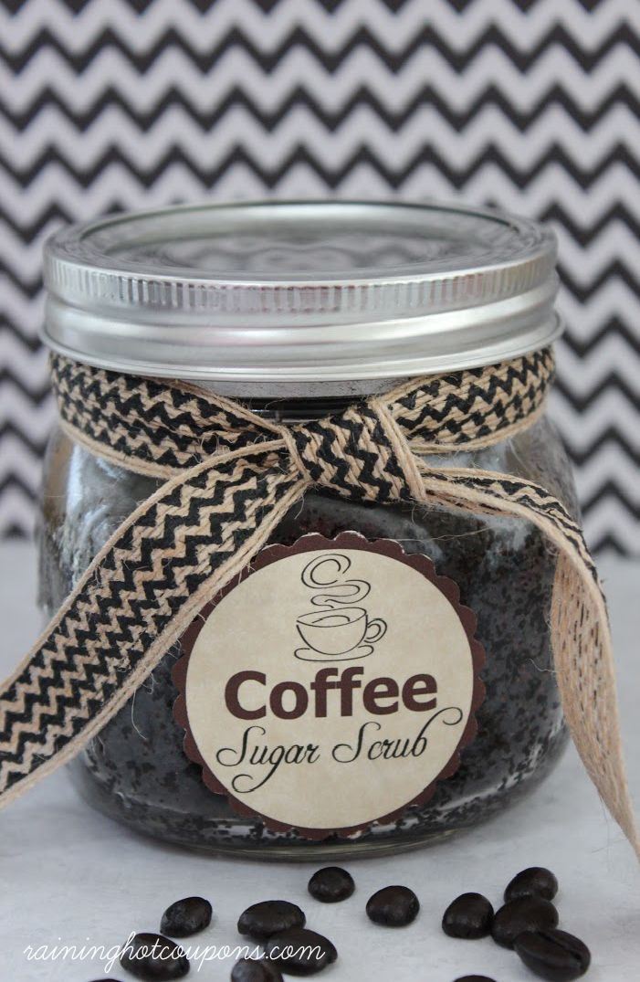 Coffee Sugar Scrub Recipe + FREE Gift Tag Printable!