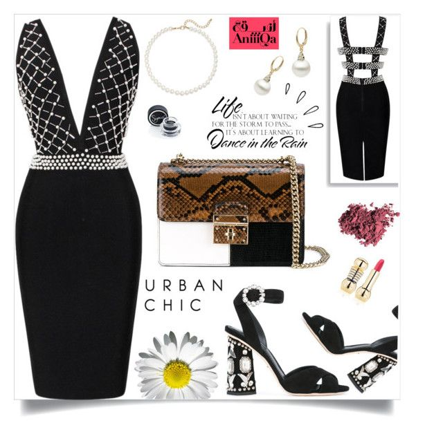 """""""Urban chic!"""" by samra-bv ❤ liked on Polyvore featuring Dolce&Gabbana, Saks Fifth Avenue, WALL, Sigma, Old Navy, Christian Dior, dress, Elegance and LoveBlack"""