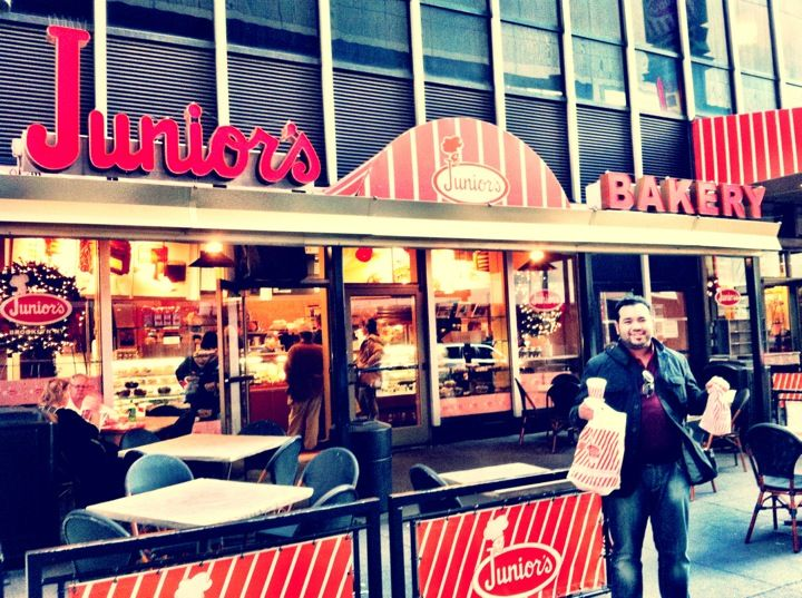 Junior's restaurants is famous for its classic New York cheesecakes! Don't forget to stop at Duane Reade on the way home for your NYC trip essentials, or go to DuaneReade.com.