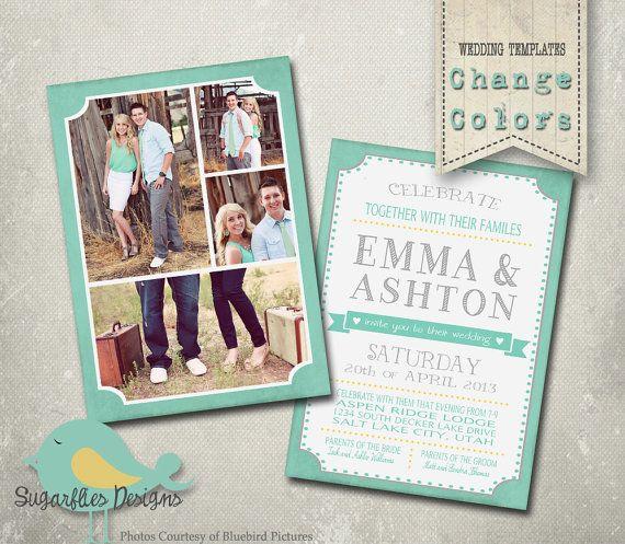 347 best Engagement Announcement Templates images on Pinterest - wedding announcement template