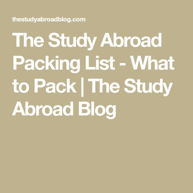 My Top 15 Packing Items for Study Abroad in London. | The ...