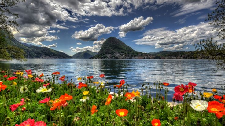 1366x768 HD Widescreen Wallpaper - lake