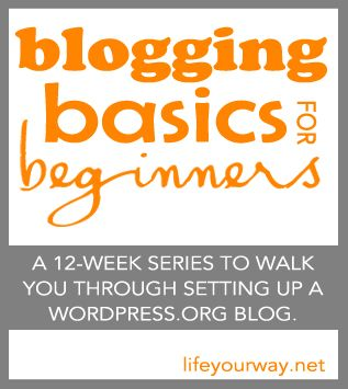12 week series starting on August 30 (from Mandi of Life Your Way, one of my personal blogging mentors)