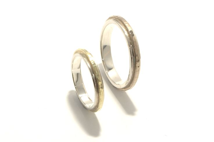 Band of Gold: Silver, yellowgold, whitegold, hammered, structure / Zilver, geelgoud, witgoud, gehamerd, structuur
