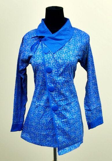 Model Baju Batik Kerja Wanita 2015