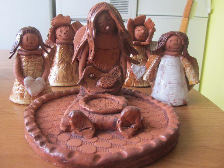 andělíčci a andělský svícen