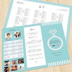 ティファニーブルー♡結婚式席次表オーダー ハンドメイドのウェディング(その他)の商品写真