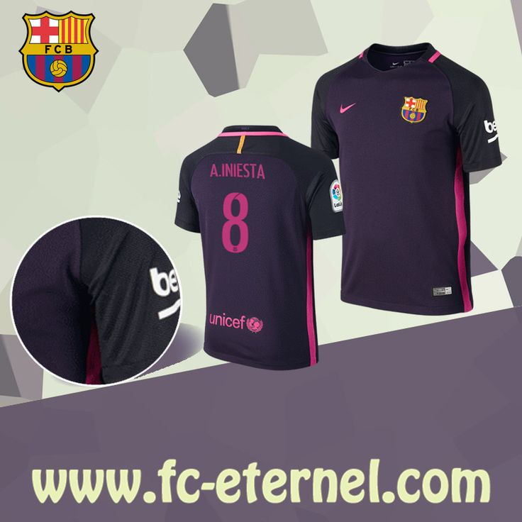 fc-eternel:Boutique Maillot FC Barcelone (A.INIESTA 8) Exterieur 2016/2017 Chine