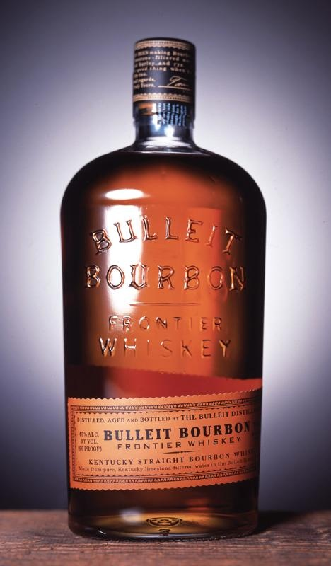 Bulleit Bourbon...a really good bourbon based on an original recipe from the 1860s. Good stuff...especially if your a reenactor like I am. Even the bottle is based on what the originals looked liked.