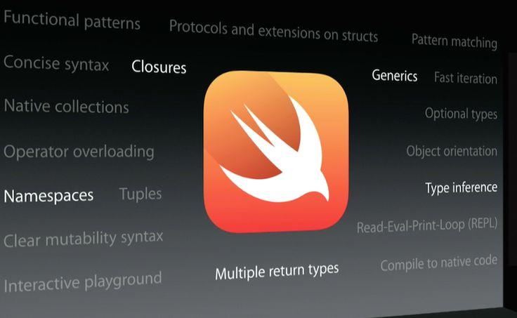 El lenguaje de programación que se utiliza en Apple, Swift, luego de unos años de madurez se ubica en el ránking como el décimo más utilizado.