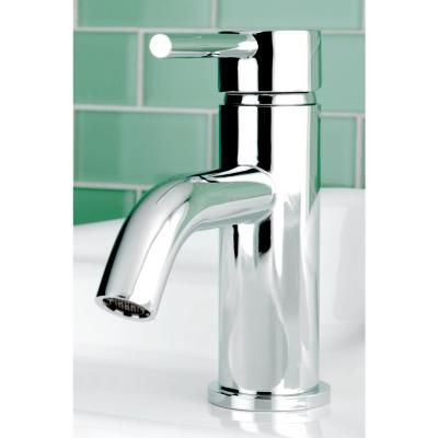 Kingston Brass Contemporary Single Hole Single-Handle High-Arc Bathroom Faucet in Chrome - HFS8221DL - The Home Depot
