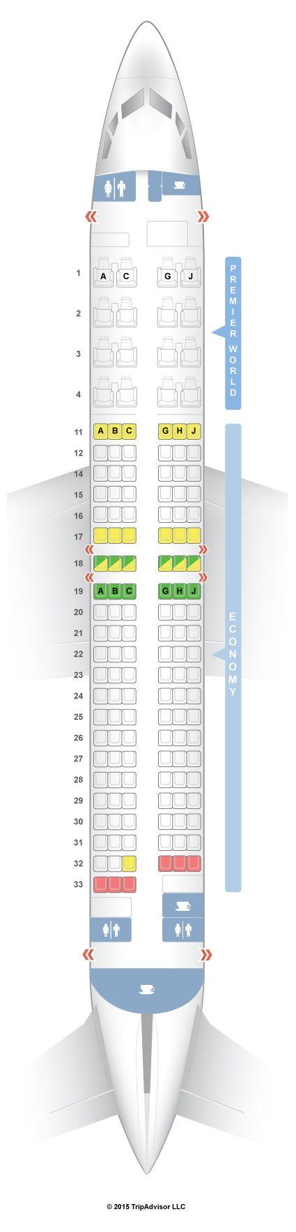 SeatGuru Seat Map Kenya Airways Boeing 737-800 (738)