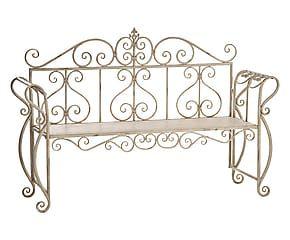 Divanetto a 3 posti in ferro Andalusia bianco - 150x104x50 cm