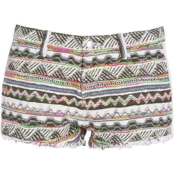 IRO Aztec Multi Colour Shorts ($301) ❤ liked on Polyvore featuring shorts, iro shorts, aztec shorts, aztec print shorts, multi colored shorts and colorful shorts