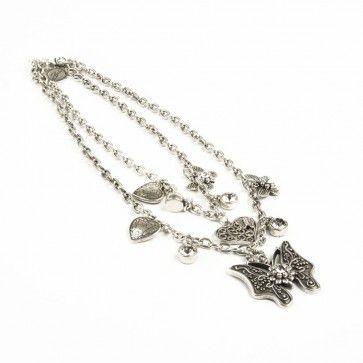 Bibi Bijoux double butterfly necklace