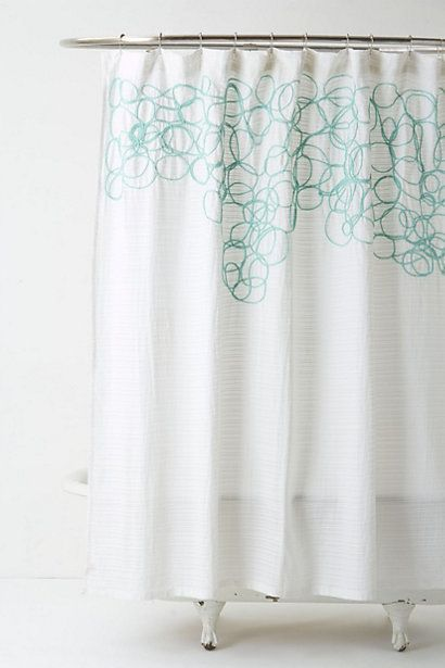 Looped & Knotted Shower Curtain #anthropologie