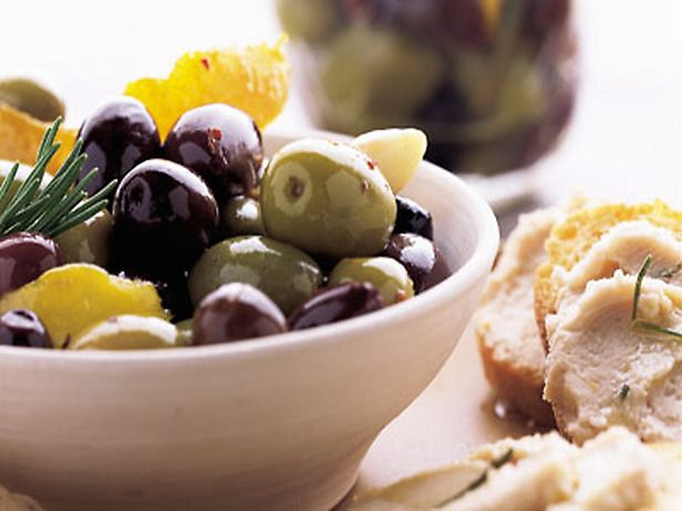 citrus spiced mixed olives