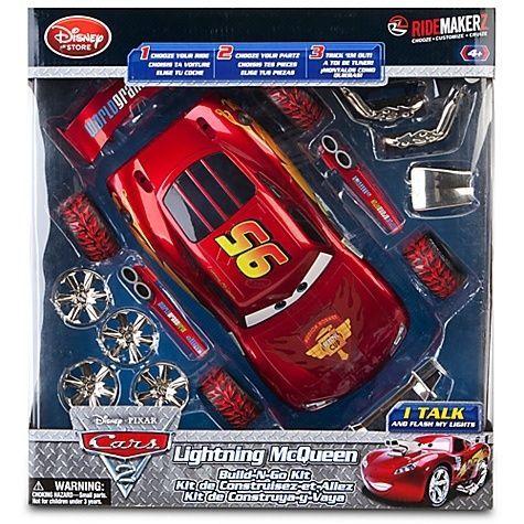 NIB Disney Cars 2 Build-N-Go Lightning McQueen Custom Car Set by RideMakerz Talk #DisneyRideMakerz