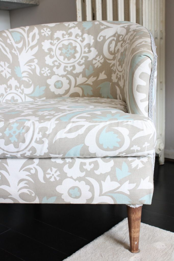This Dusty House How To Reupholster A Club Chair DIY For The Home Pinte