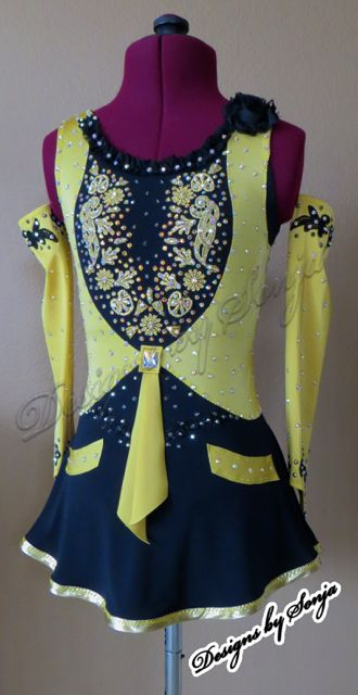 Ice Skating Costume designed and created by Sonja Ballin. All Designs copyright ©2015, Sonja Ballin of Tampa Bay, Florida. www.sonjadesigns.com Check us out (and like) on Facebook: https://www.facebook.com/pages/Designs-By-Sonja/220737151285770