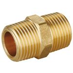 Hex Nipple, Brass Pipe Fittings, Brass Compression Fittings