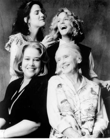 Feisty Females: Fried Green Tomatoes; Mary Louise Parker as Ruth, Mary Stuart Masterson as Idgie, Kathy Bates as Evelyn and Jessica Tandy as Ninny.