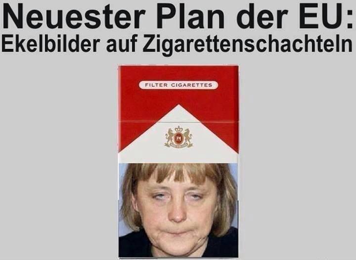 Merkel auf Zigarettenschachteln | echtlustig.com - Lustige ...