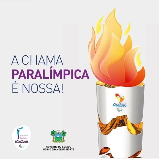 Chama Paralímpica em Natal Ano: 2016  Cliente: Governo do RN