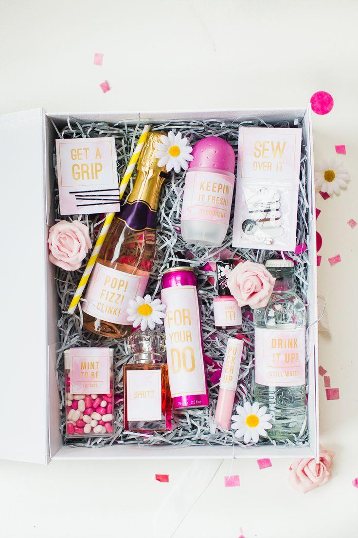 Emergency Bride Kit Wedding day kit DIY make your own box bag essentials labels_-12