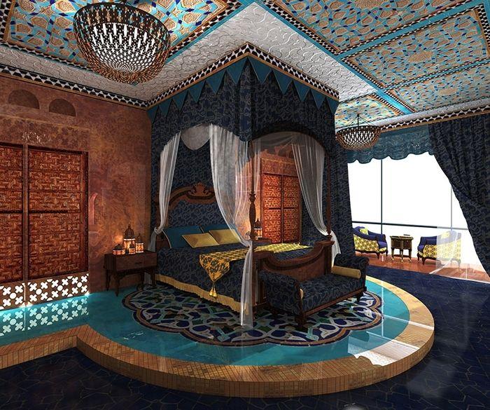Как оформить спальню в восточном стиле | Студия Happy Space
