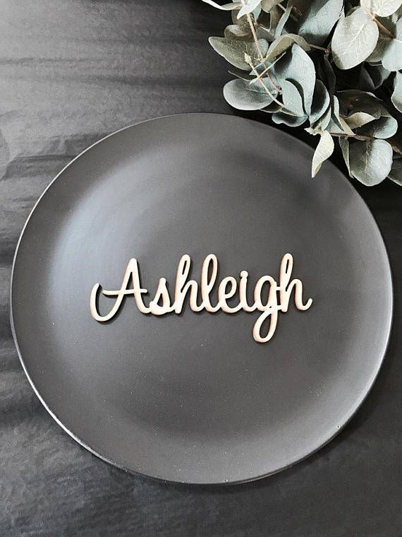 Table names Wooden Wedding Place Name laser cut names Place Setting